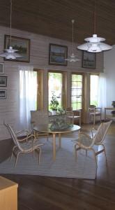 Nappali kerekesszékkel is körbe ülhető asztallal