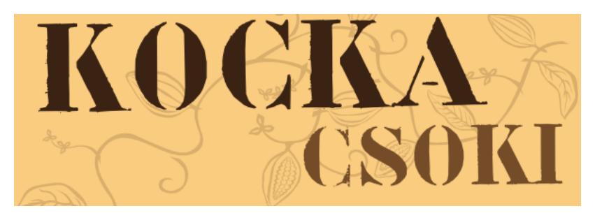 A képen a Kocka csoki felirat olvasható.