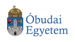 A képen az Óbudai Egyetem logója látható, ami egy címer.