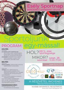 A képen a rendezvény plakátja látható. Fontosabb információk: helyszín - Pécs, ANK Sportegysége, dátum 2019.09.28.