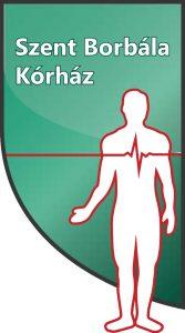 A képen zöld alapon fehér betűkkel az intézmény neve olvasható, illetve egy fehér emberi alak és egy piros EKG görbe látható.